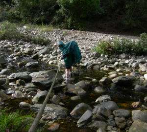 In 2009 the steel cable strung across the Homtini River was not required