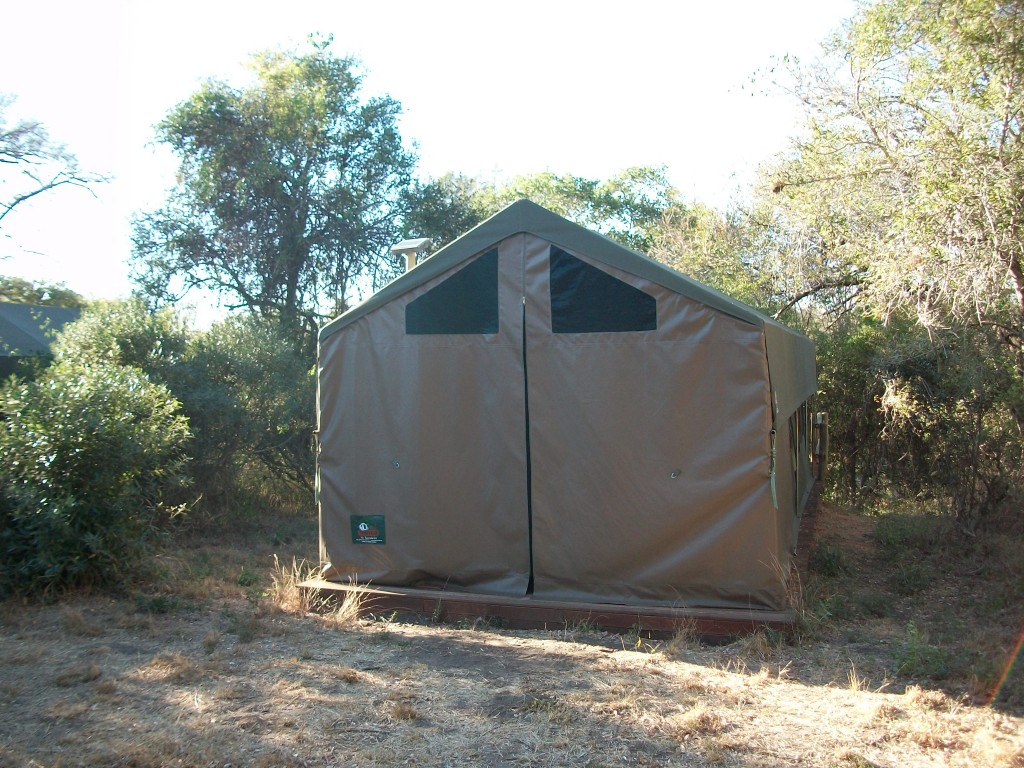 Two man tents in the middle of the bush