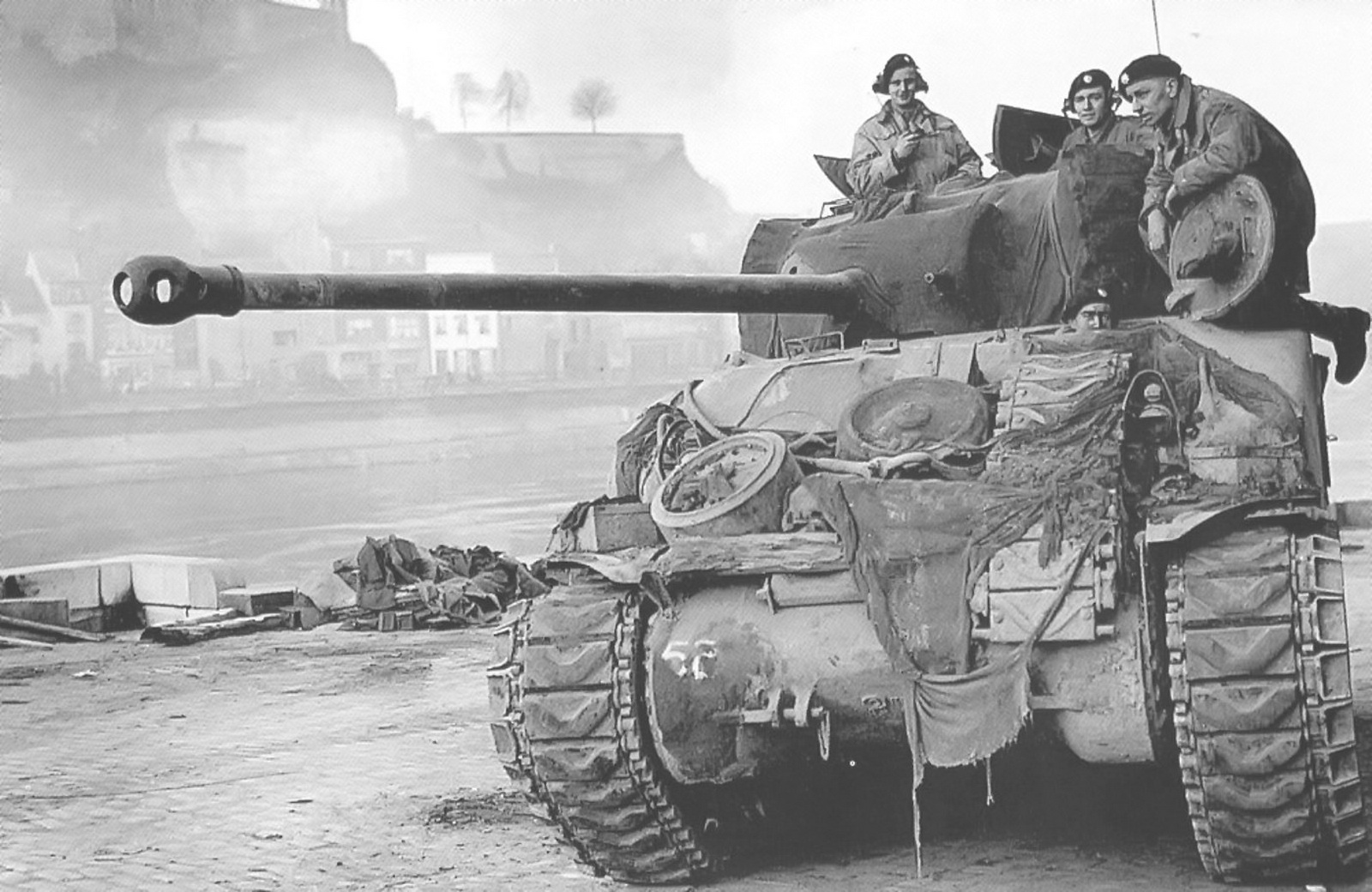 It was in a Sherman Firefly like this one in which Joe Ekins destroyed Wittmann's Tiger