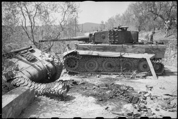 Despite their impressive armour plating, the Tiger Tank was able to be destroyed