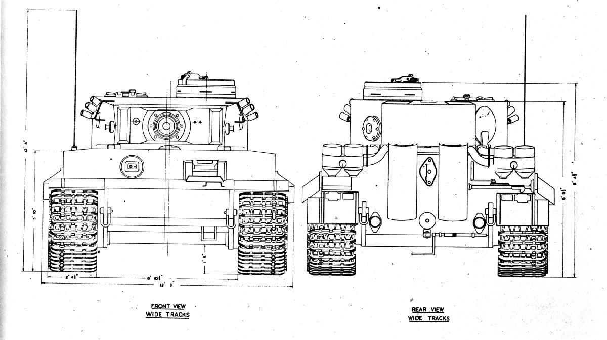 Tiger Tank drawings