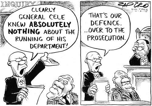 120311 — Misconduct hearing against suspended police chief Bheki Cele published in Sunday Times on 11 Mar 2012