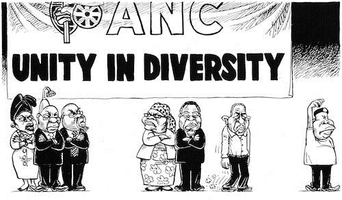 120408 — ANC's Top 6 - Unity in Diversity - Pro or Against Zuma published in Sunday Times on 8 Apr 2012
