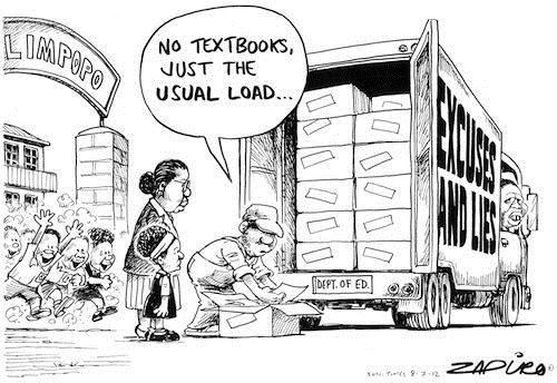 120708 — Textbook distribution saga continues around lies and excuses published in Sunday Times on 8 Jul 2012