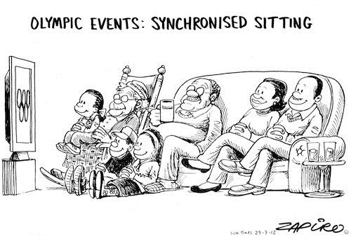 120729 — Olympic Games 2012 - Syncronised Sitting published in Sunday Times on 29 Jul 2012