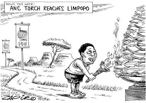 120812 — ANC Centenary Torch finally arrives in Limpopo published in Sunday Times on 12 Aug 2012