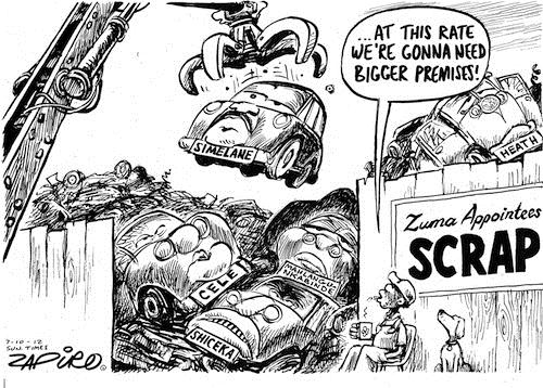 121007 — Jacob Zuma's Scrapyard of Appointees published in Sunday Times on 7 Oct 2012