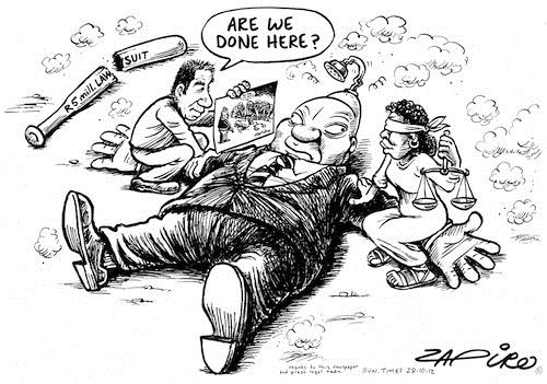 121028 — Zuma capitulates in trial against Zapiro and Sunday Times published in Sunday Times on 28 Oct 2012