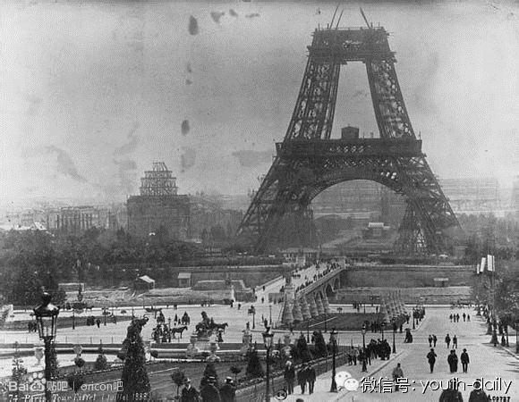 The Eiffel Tower under Construction