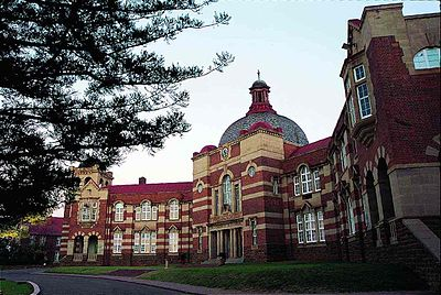 Facade of the Pretoria Boys School