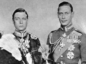 David - future King Edward VIII - with his sibling, Albert - Bertie to David and future King George V  as callow youths