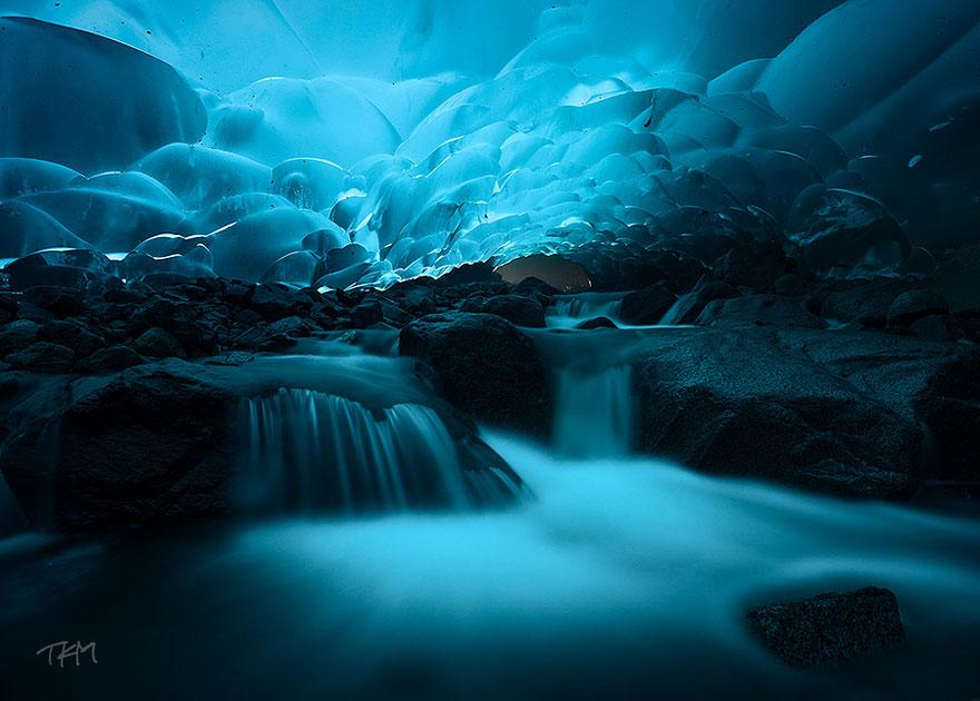 Mendenall Ice Caves in Alaska