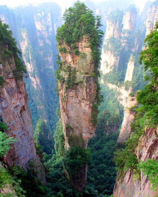 Tianzi Mountains in China