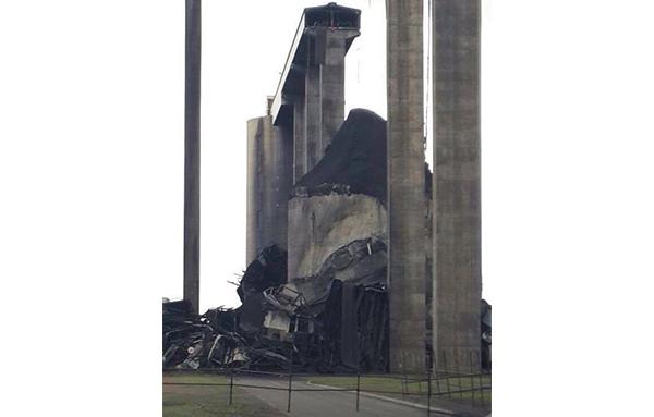 Collapsed silo at Majuba Power Station