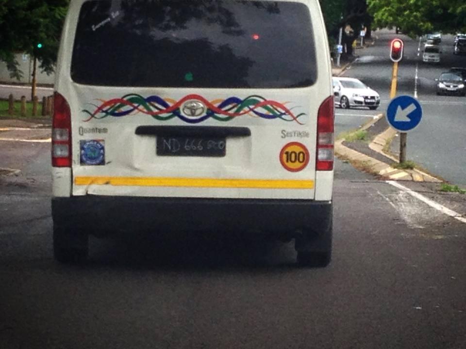 Essence of Africa#32-Cardboard & chalk number plates