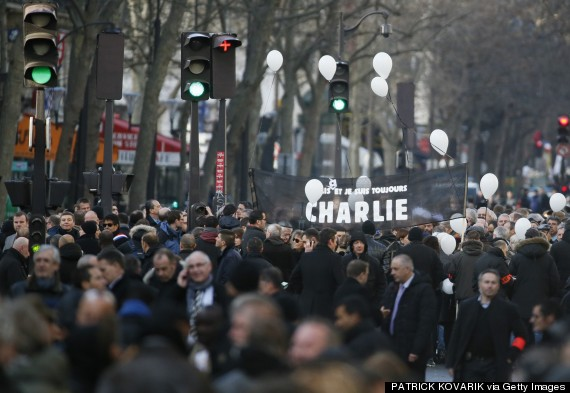 Part of the more than million people at a rally endorsing free speech after massacre at Charlie Hebdo, a satirical newspaper