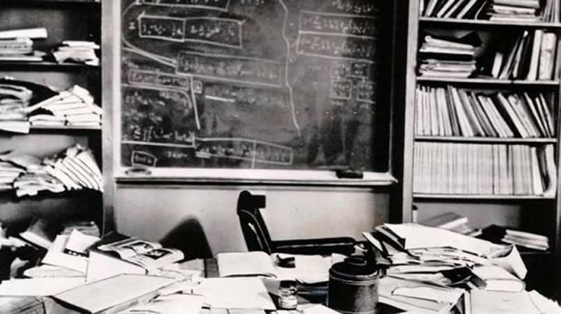 Einstein's desk hours after his desk