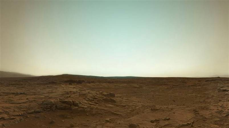 Mars in true colour from the Curiosity Rover
