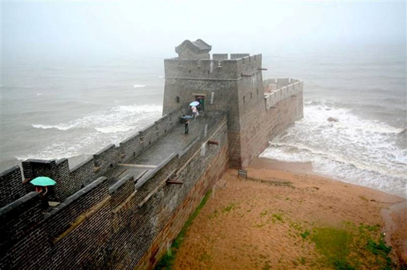 Where the Great Wall of China ends
