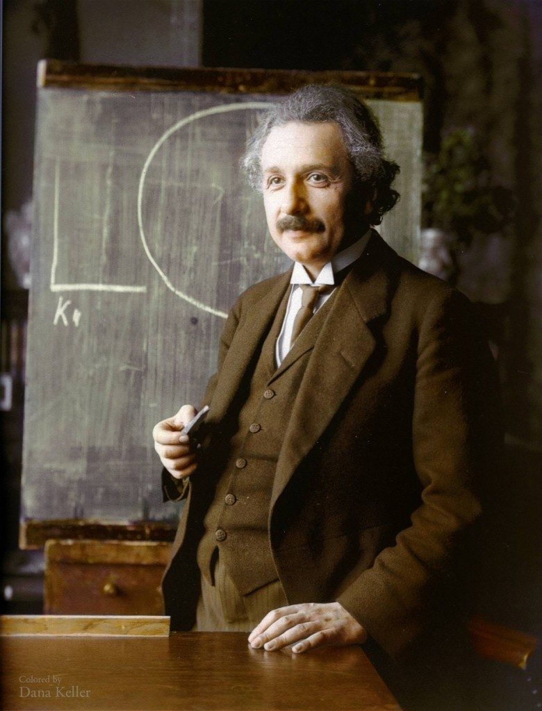 Albert Einstein who conceptualised the equivalence of energy and matter in his formula E=MC2
