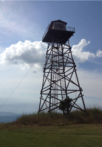 The fire tower at Florence Hill Hut
