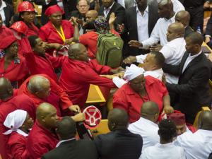 Images of SONA 2015 that SABC refused to broadcast