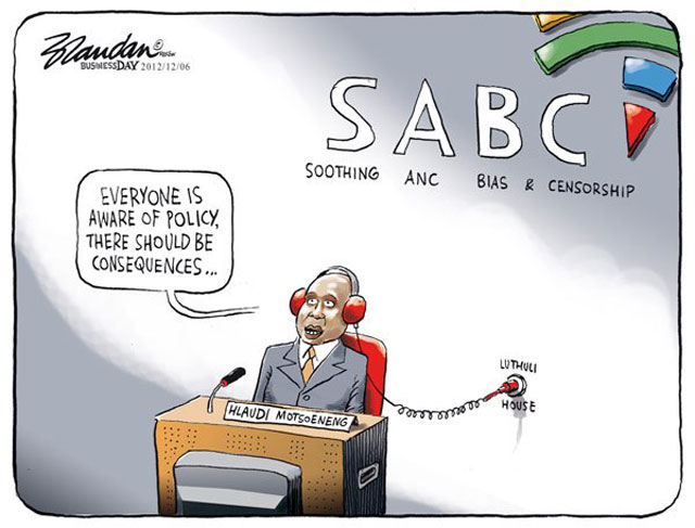 Lin between the SABC and Luthuli House