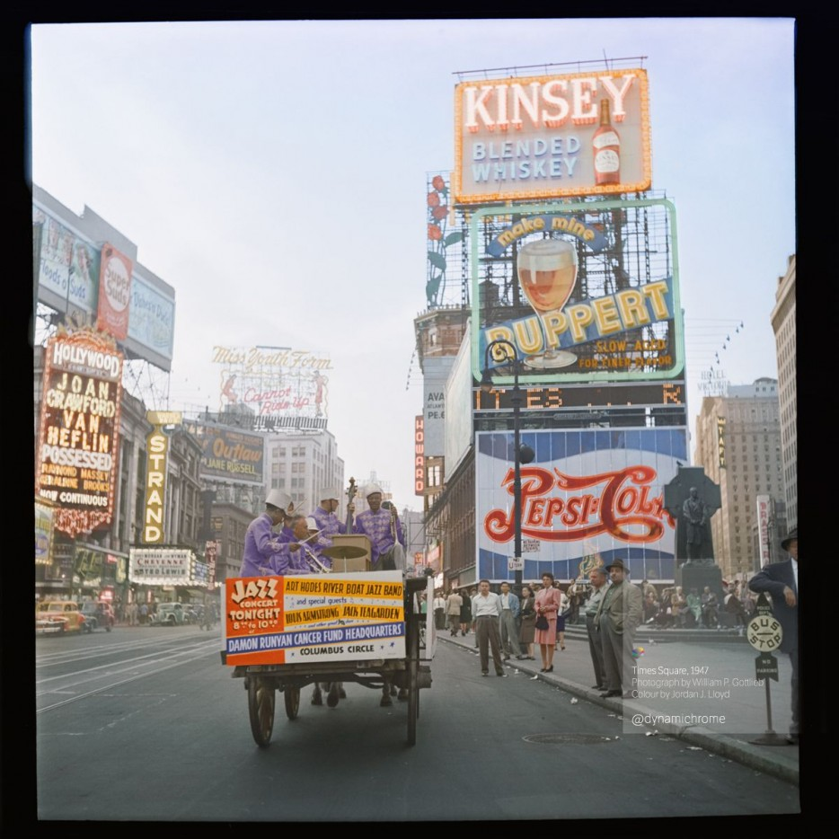 Times Square in 1947