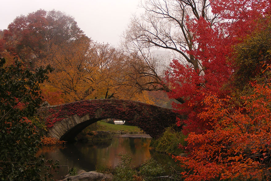 GAPSTOW BRIDGE, NEW YORK, USA IN AUTUMN
