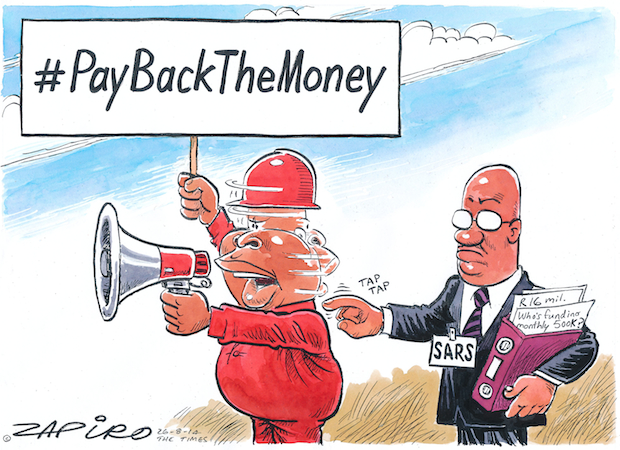 Julius Malema and SARS - Pay Back the Money published in The Times on 26 Aug 2014