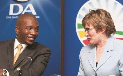 Mmusi Maimane with Helen Zille