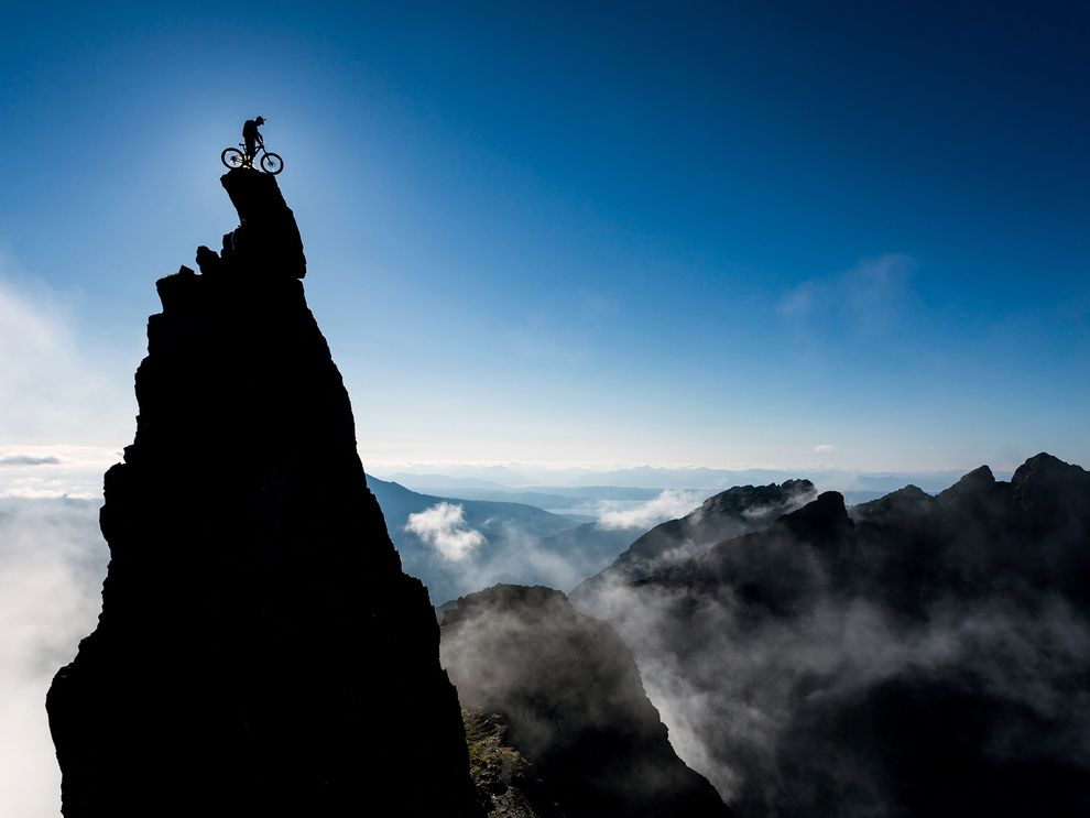 The summit of Sgurr Dearg, the Inaccessible Pinnacle, a famous feature of the Cuillin Ridge on Scotland's Isle of Skye