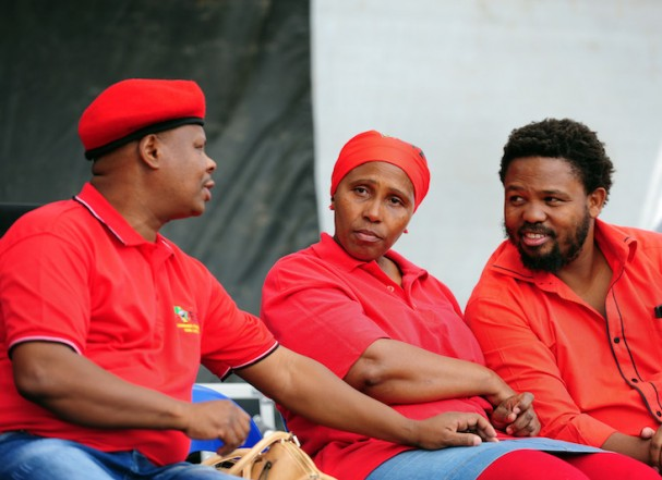Three EFF MP's who were expelled