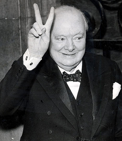 Churchill in the twilight of his life