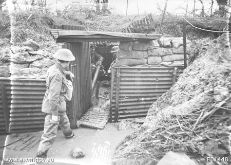 Australian 18th Battalian Stokes Mortar at Ploegsteert on 20th January 1918