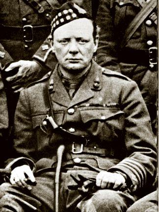 Churchill as Commander of the Scots Fusiliers