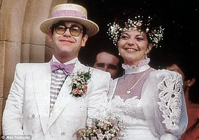 Elton John with his wife Renate Blauel