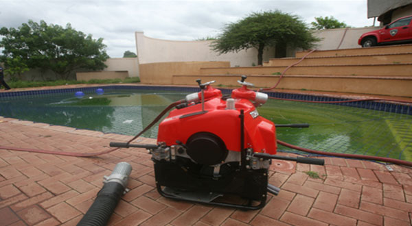 The swimming pool adjacent to the main house which Nhleko cliams if a Fire Pool to be used in cases of emergency