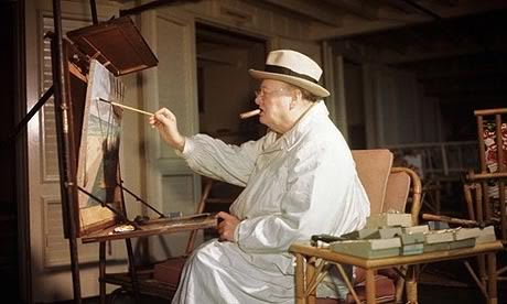 churchill-painting