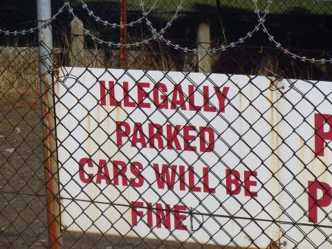 "Anything illegal is more than ""fine""d"