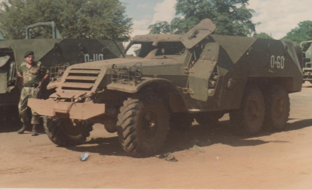 Captured Russian APC now in Rhodesian service