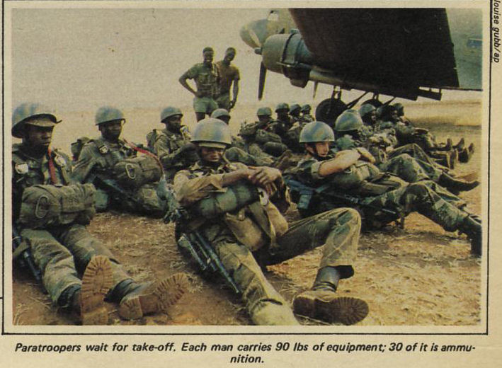 Paratroopers awaiting the next call-out