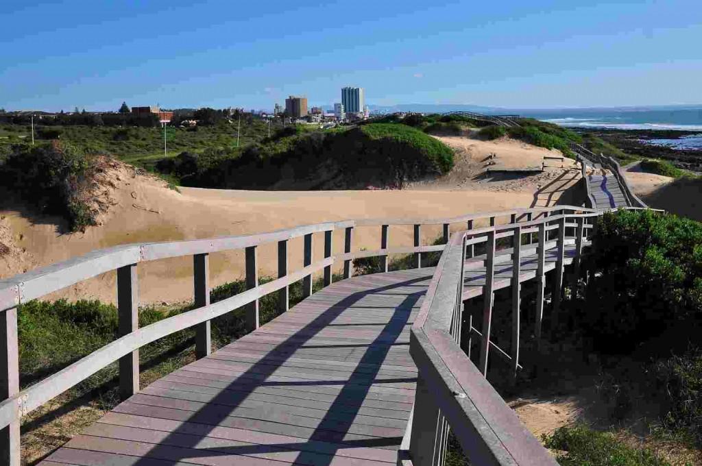Beachfront walkway
