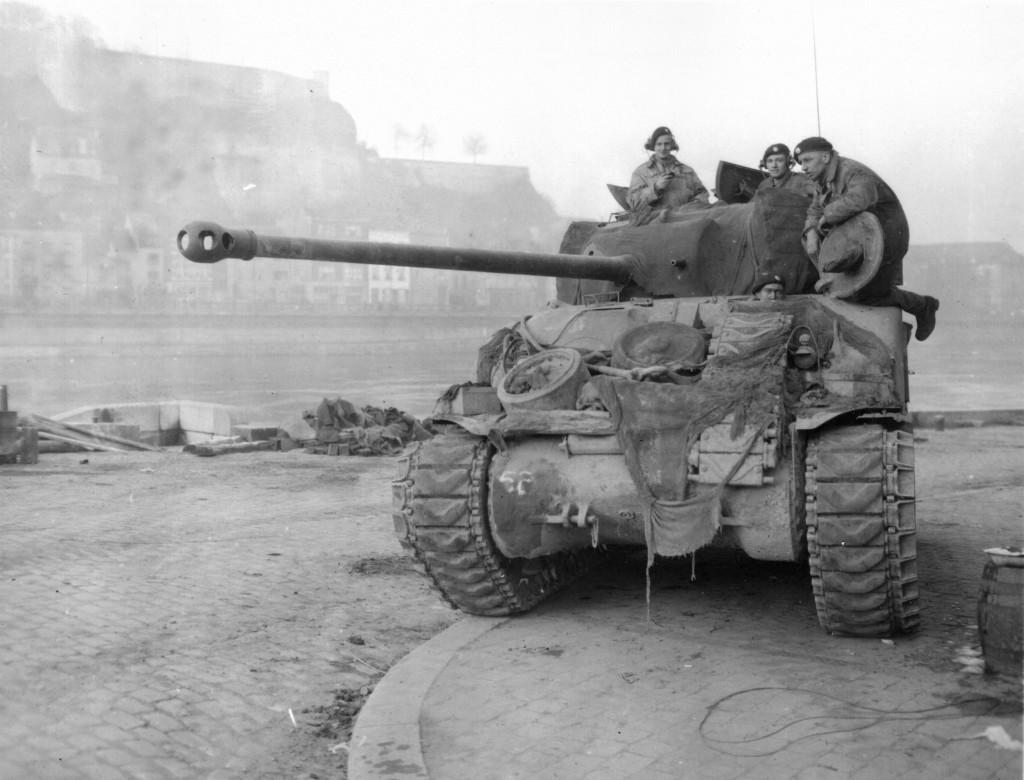 A Sherman Firefly - standard Sherman Tank mounting a 17 pounder anti-tank gun
