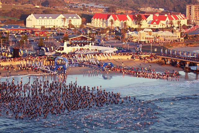 Ironman South Africa – start of the swim