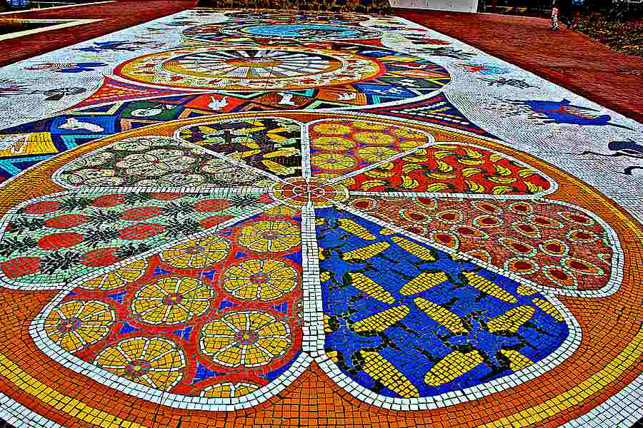 Mosaic path at Donkin heritage reserve