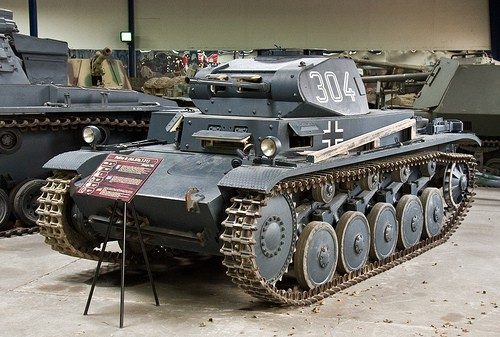 Germany's first true tank was the diminutive PzKpfw. II ausf. B with twin 20mm canons