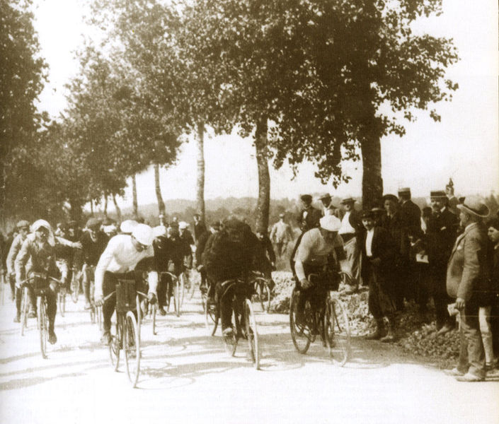 Tour de France 1903. The first kilometre in the history of cycle racing Tour de France