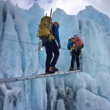 Khumba icefalls