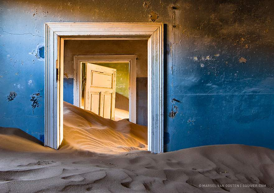 Abandoned mining town in Namibia